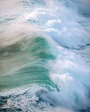 Wild Crashing Waves During Sun...