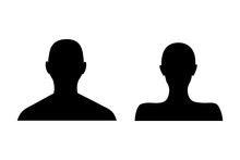 Anonymous Female And Male Face...