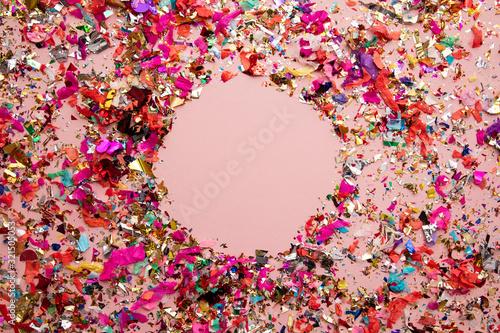 Obraz Bright colourful party sparkling party confetti background - fototapety do salonu