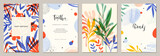 Set of abstract creative universal artistic templates. Good for poster, card, invitation,flyer, cover, banner, placard, brochure and other graphic design.