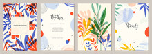 Set Of Abstract Creative Universal Artistic Templates. Good For Poster, Card, Invitation, flyer, Cover, Banner, Placard, Brochure And Other Graphic Design.