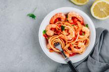 Italian Food Shrimp Spaghetti ...