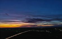 Flugsicht Sonnenuntergang Luft...