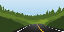 Asphalt Road In Green Mountain...