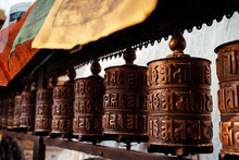 Buddhist Prayer Wheel At Swaya...
