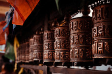 Buddhist Prayer Wheel At Swaya...