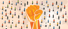 People Power Hand Fist Raise T...