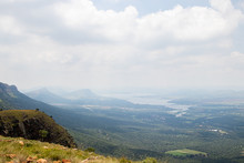 View Of The Hartbeespoort Dam From Atop Of The Magaliesberg Mountain Range