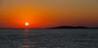 canvas print picture - Sonnenuntergang um 21 Uhr Abend von einer Yacht aus am Mittelmeer vor Kos Griechenland