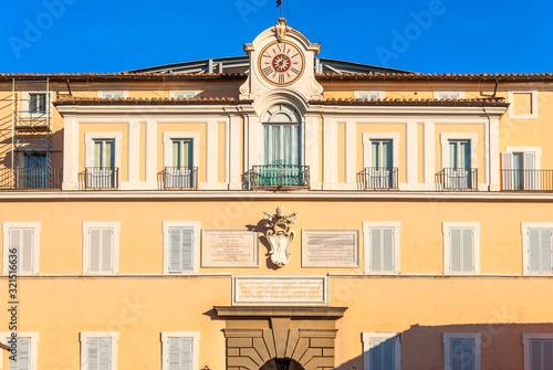 Apostolic Palace of Castel Gandolfo - Formerly Pope Summer Residence Canvas Print