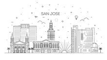 Minimal San Jose City Linear S...