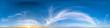 canvas print picture - Nahtloses Panorama mit blauem Himmel 360-Grad-Ansicht mit schönen Wolken mit Zenit zur Verwendung in 3D-Grafiken als Himmelskuppel oder zur Nachbearbeitung von Drohnenaufnahmen