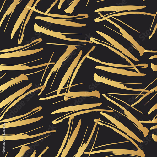 Tapety złote  vector-golden-marker-stripes-seamless-pattern-distressed-brush-smear-texture-gold-isolated