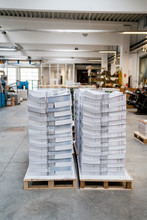 Stacks Of Papers On Pallets In...