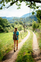 Alto Adige, Teenage Girl Hikin...