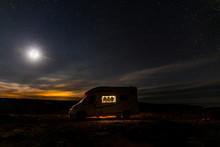 Lighted Camper Parking Under S...