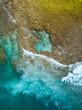 Indonesia, Sumbawa, Aerial view of reef