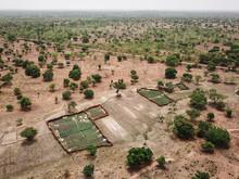 Mali, Bougouni, Aerial View Of...