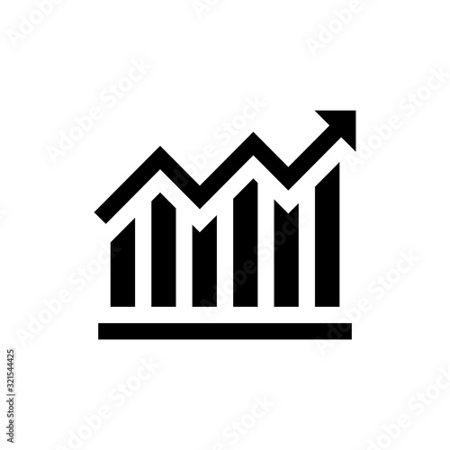 Fotografía Growth Chart Vector Icon style illustration Data Science EPS