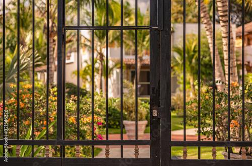 Gate on the tropical garden