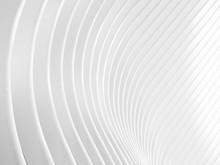 Fondo Abstracto De Lineas Formando Una Onda. Papel Geométrico Blanco Mínimalista. Textura Blanca Para Fondo.