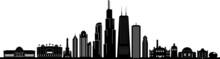 Chicago City Downtown Skyline ...