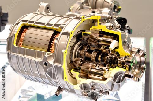 Integrated electric car drive module. Fototapete