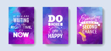 Set Of Posters With Motivatio...