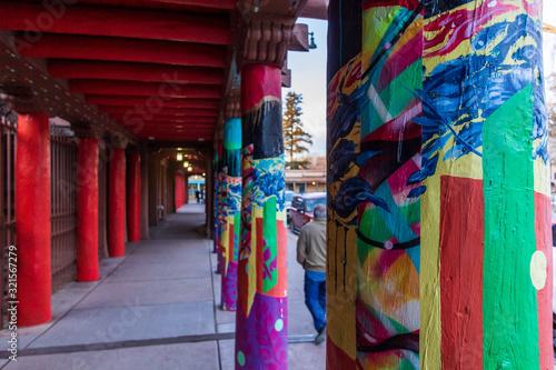 Naklejka premium Fotografia miejska Santa fe, Nowy Meksyk