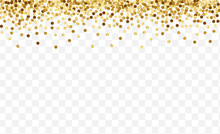 Golden Shine Dot Template. Bir...
