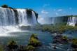 The awe inspiring Iguazu Falls (Iguaçu , waterfalls of the Iguazu River on the border between Argentina and Brazil. The largest waterfall in the world