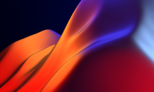 3d Bright Abstract Smooth Wavy...