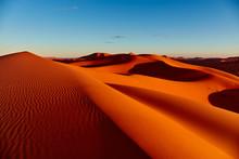 Sand Dunes In The Sahara Deser...