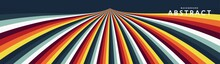 Abstract Retro Background With Colored Stripes