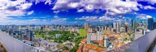 Panorama High View Of Singapor...