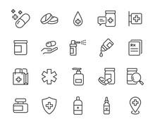 Set Of Medicine Icons, Pills, ...