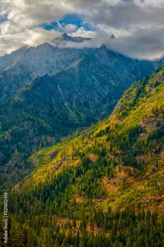 Clouded peaks near Leavenworth, WA