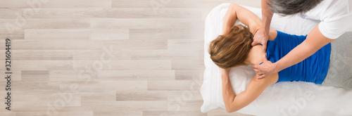 Woman Receiving Body Massage Wallpaper Mural