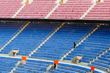 Empty Stands Of A Stadium With...