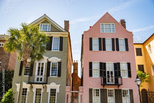 Canvastavla Historical downtown area of Charleston, South Carolina, USA
