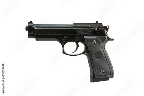 Photo Toy gun isolated on white background
