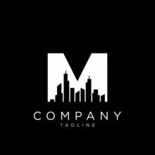 M City Logo Design Vector