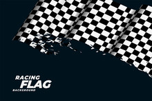 Checkered Racing Flag Backgrou...