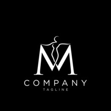 M Body Beauty Logo Design Vector