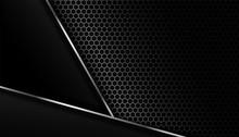 Dark Carbon Fiber Background W...