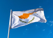 Flag of the Republic of Cyprus against the blue sky