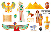 Ancient Egypt Icon Set. Pharao...