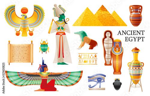 Fotografija Ancient Egypt icon set