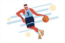 Basketball Player. Flat Illust...