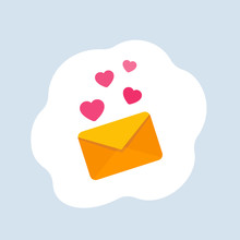 Love Letter Vector Icon, Flat ...